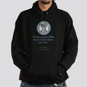 Ayn Rand Quote Hooded Sweatshirt