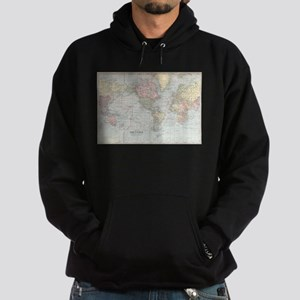 Vintage World Map (1901) Hoodie (dark)