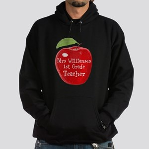 Personalised Teacher Apple Painting Hoody
