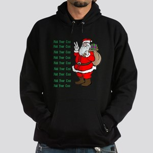 Add Your Own Text Santa Hoodie (dark)