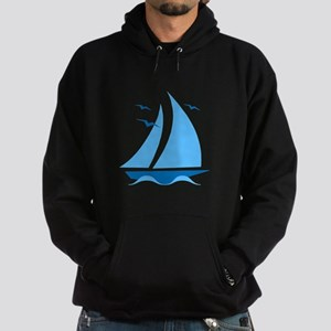 Blue Sailboat Hoodie (dark)