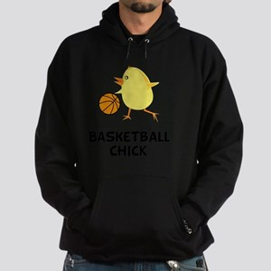 Basketball Chick Black Hoodie (dark)