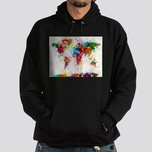 World Map Paint Splashes Sweatshirt