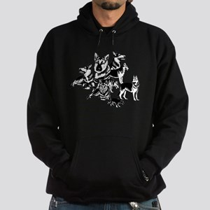 GSD Black and White collage Hoodie (dark)