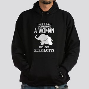 Never Underestimate A Woman Who Love Hoodie (dark)