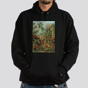 Vintage Plants Decorative Hoodie (dark)