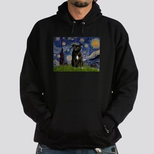 Starry-Am.Staffordshire (blk) Hoodie (dark)