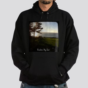 Front lawn at Esalen, Big Sur Hoodie (dark)