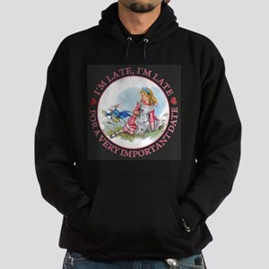 I'm Late , I'm Late, For a Very Impo Hoodie (dark)