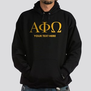 Alpha Phi Omega Letters Personalized Hoodie (dark)