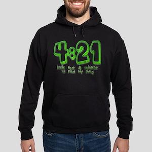 4:21 Funny Lost Bong Pot Desi Hoodie (dark)