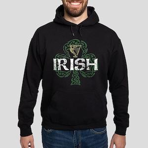 Irish Shamrock Erin Go Bragh Hoodie (dark)
