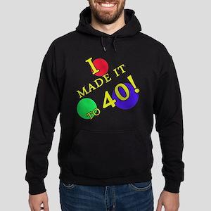 Made It To 40 Hoodie (dark)