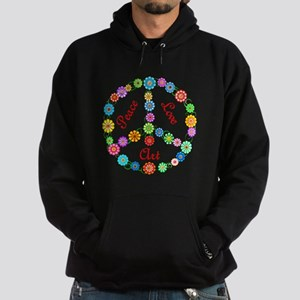 Peace Love Art Hoodie (dark)