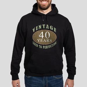Vintage 40th Birthday Hoodie (dark)