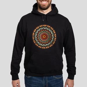 Detailed Orange Earth Mandala Hoodie (dark)