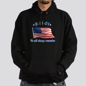 9/11 Tribute - Always Remember Hoodie (dark)