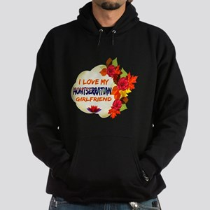 Montserratian Girlfriend Valentine design Hoodie (