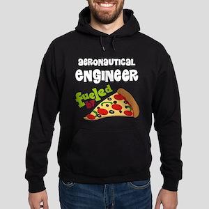 Aeronautical engineer Fueled By Pizza Hoodie (dark