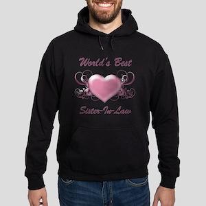 World's Best Sister-In-Law (Heart) Hoodie (dark)