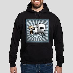 Happy Camper Dog Hoodie Sweatshirt