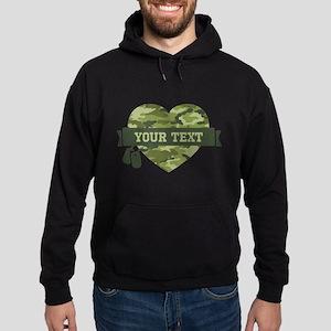 PD Army Camo Heart Hoodie (dark)