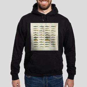 Freshwater Fish Chart Hoodie (dark)