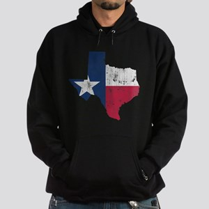 Vintage Texas State Outline Flag Hoodie