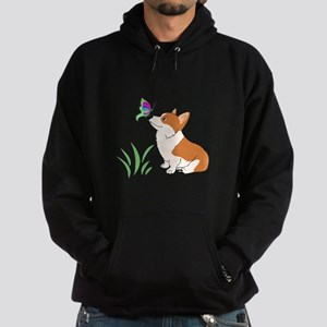 Corgi with butterfly Hoodie