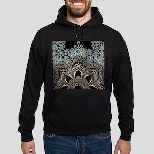 bohemian floral mandala hipster Hoodie (dark)