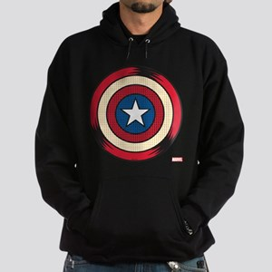 Captain America Comic Shield Hoodie (dark)