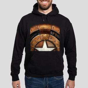 Captain America Steampunk Shield Hoodie (dark)