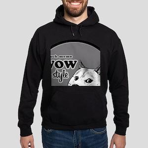 Wow SO Style, such Meme Hoodie (dark)