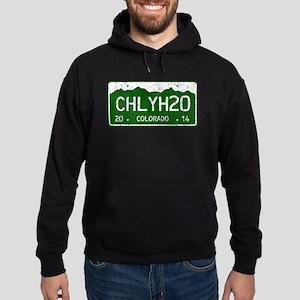 Chilly Water Colorado License Plate Hoodie (dark)