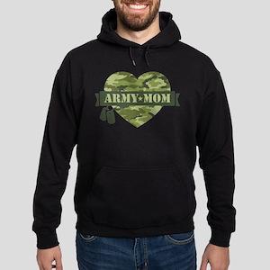 Camo Heart Army Mom Hoodie (dark)