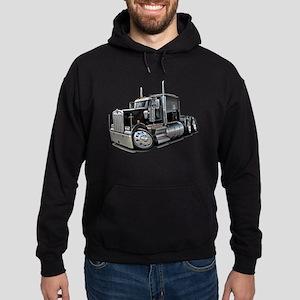 Kenworth W900 Black Truck Hoodie (dark)