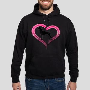 Heart My Doberman Hoodie (dark)