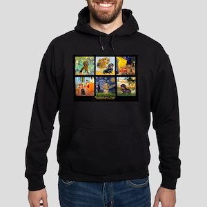 Dachshund Famous Art 1 Hoodie (dark)