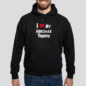 I Love My Airedale Hoodie (dark)