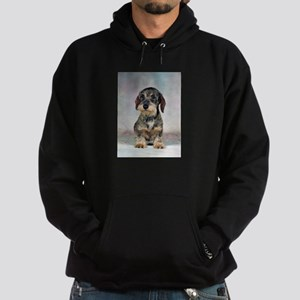 FIN-wirehaired-dachshund-PRINT-9x12 Hoodie (da