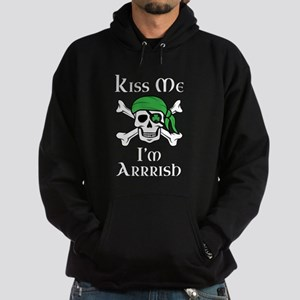 Irish Pirate - Kiss Me I'm Arrrish Hoodie (dark)
