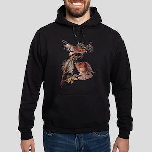 Red Shouldered Hawk Vintage Audubon Art Hoodie