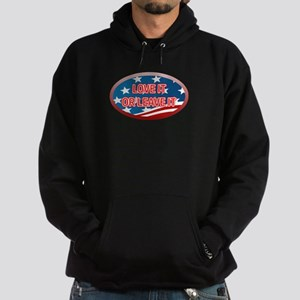 LOVE IT OR LEAVE IT! AMERICAN FLAG Hoodie (dark)