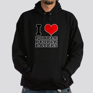 I Heart (Love) Purple People Hoodie (dark)