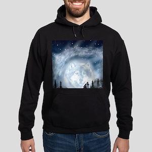 spirt of the wolf Hoodie (dark)