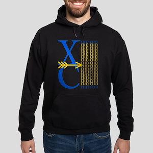 XC Run Blue Gold Hooded Sweatshirt