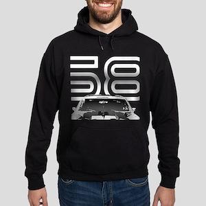 Camaro Black 1968 Hoodie (dark)