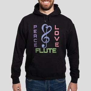 Peace Love Flute Music Hoodie (dark)
