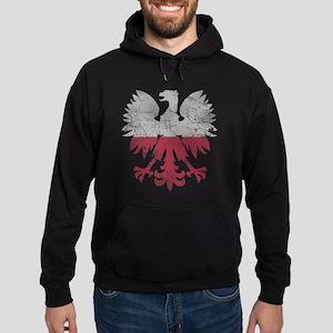 Polish Flag White Eagle Hoodie