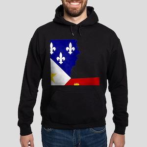 Acadiana State of Louisiana Hoodie (dark)